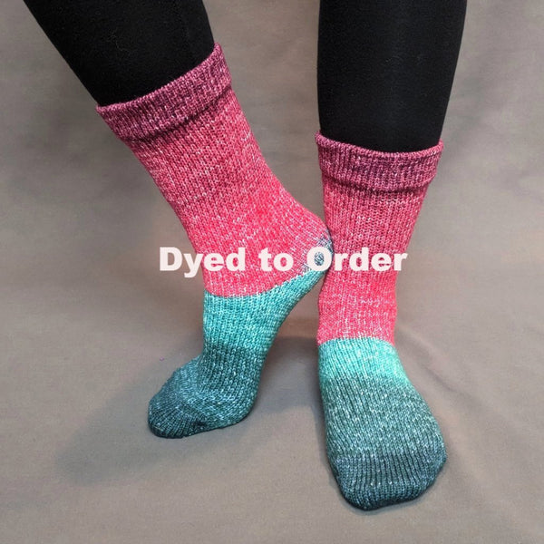 Knitcircus Yarns: Deck The Halls Panoramic Gradient Matching Socks Set, dyed to order yarn
