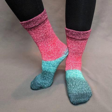 Knitcircus Yarns: Deck The Halls Panoramic Gradient Matching Socks Set (medium), Greatest of Ease, ready to ship yarn