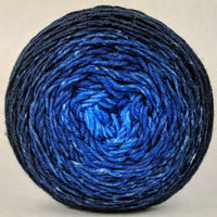 Knitcircus Yarns: Blue-nique 100g Chromatic Gradient, Greatest of Ease, ready to ship yarn