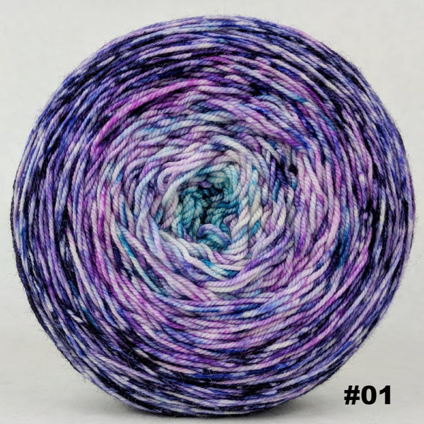 Knitcircus Yarns: The Knit Sky 150g Impressionist Gradient, Trampoline, choose your cake, ready to ship yarn
