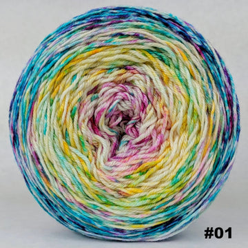 Knitcircus Yarns: Girls Run the World 150g Impressionist Gradient, Parasol, choose your cake, ready to ship yarn