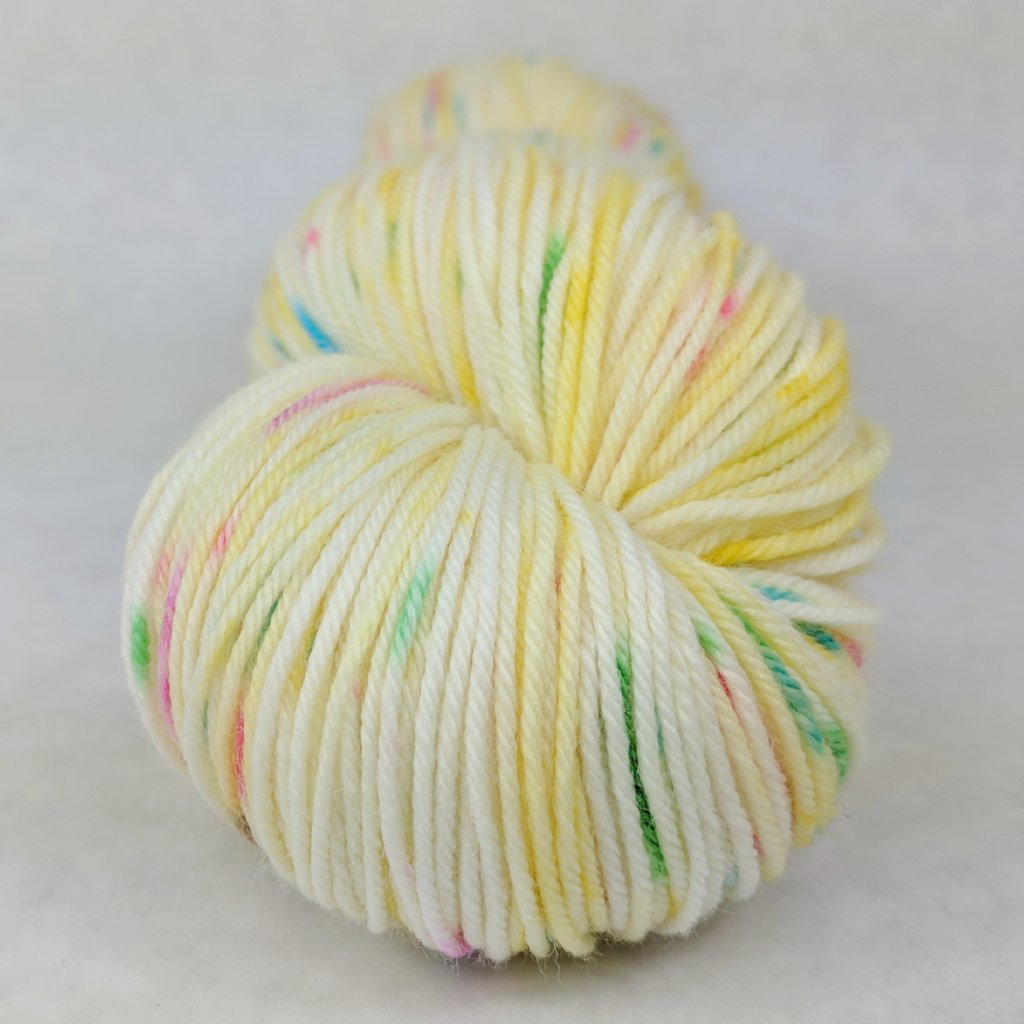 Cindy Lou Who 100g Speckled Handpaint skein, Greatest of Ease, ready to ship