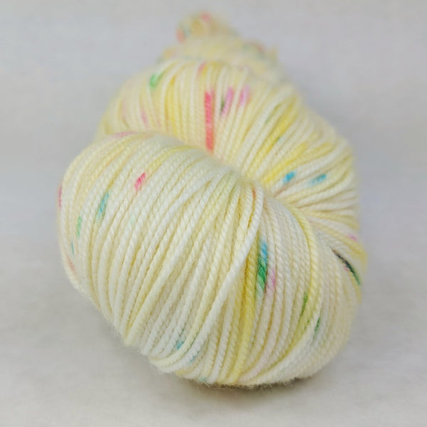 Knitcircus Yarns: Cindy Lou Who 100g Speckled Handpaint skein, Trampoline, ready to ship yarn