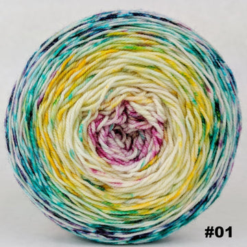 Knitcircus Yarns: Girls Run the World 100g Impressionist Gradient, Trampoline, choose your cake, ready to ship yarn