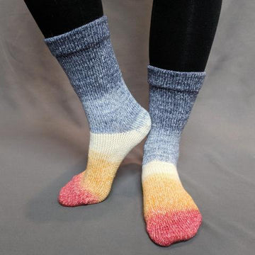Knitcircus Yarns: Fight Like A Girl Panoramic Gradient Matching Socks Set (medium), Greatest of Ease, ready to ship yarn