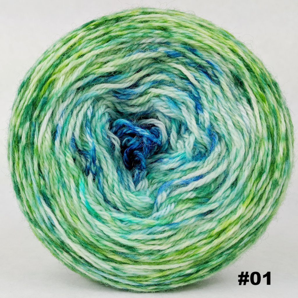 Frog and Toad 100g Impressionist Gradient, Corriedale, choose your cake, ready to ship