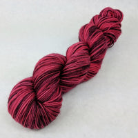 Knitcircus Yarns: Ruby Slippers 100g Kettle-Dyed Semi-Solid skein, Spectacular, ready to ship yarn