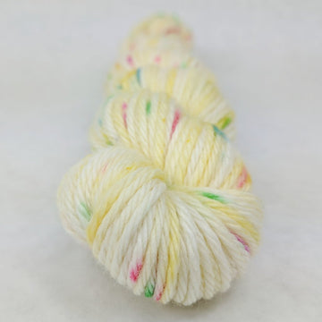 Knitcircus Yarns: Cindy Lou Who 50g Speckled Handpaint skein, Ringmaster, ready to ship yarn