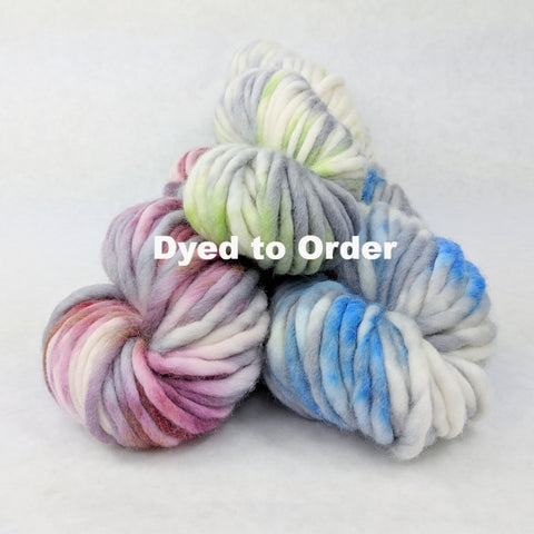 Assorted Colors, 100g Speckled Handpaint skein, Gigantic, dyed to order