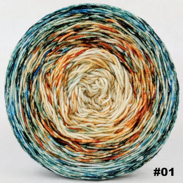 Knitcircus Yarns: Country Roads 150g Impressionist Gradient, Trampoline, choose your cake, ready to ship yarn
