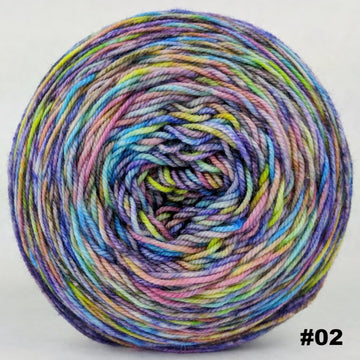 Knitcircus Yarns: Horse of a Different Color 100g Abstract, Trampoline, choose your cake, ready to ship yarn