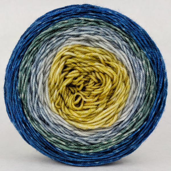 Knitcircus Yarns: Pardon Me, Sir 100g Panoramic Gradient, Trampoline, ready to ship yarn