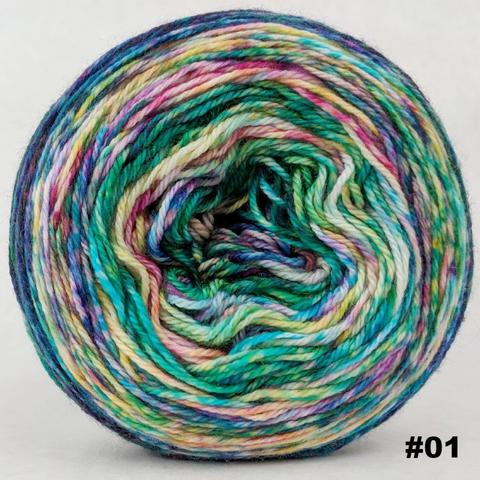 Knitcircus Yarns: Paint the Town 100g Modernist, Opulence, choose your cake, ready to ship yarn