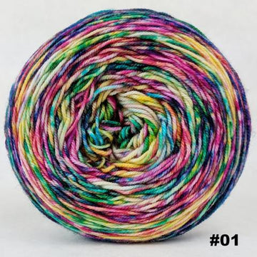 Knitcircus Yarns: Paint the Town 100g Modernist, Trampoline, choose your cake, ready to ship yarn