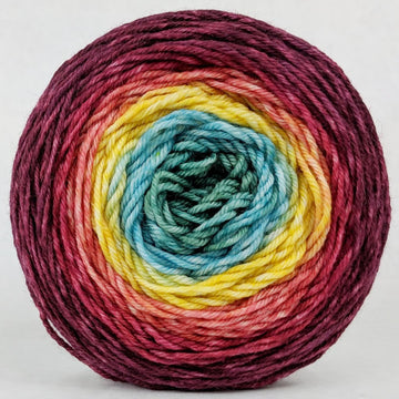 Knitcircus Yarns: Goblet of Fire 100g Panoramic Gradient, Divine, ready to ship yarn - SALE