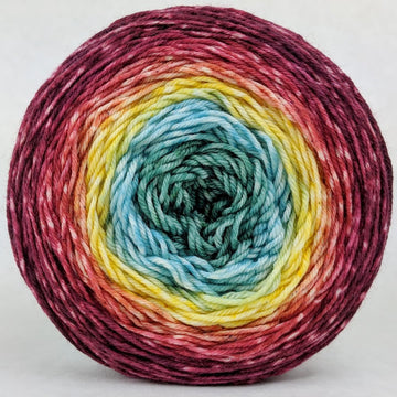Knitcircus Yarns: Goblet of Fire 100g Panoramic Gradient, Greatest of Ease, ready to ship yarn - SALE