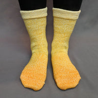 Knitcircus Yarns: All The Bacon And Eggs You Have Chromatic Gradient Matching Socks Set, dyed to order yarn