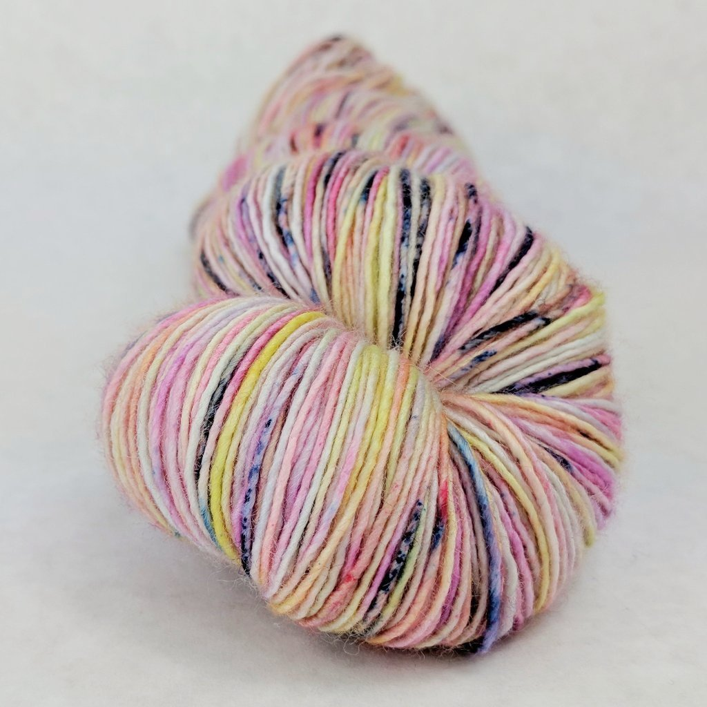 Easy Peasy Lemon Squeezy 100g Speckled Handpaint skein, Spectacular, ready to ship