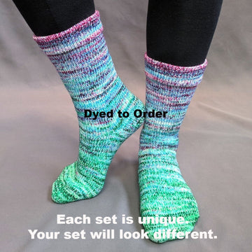 Knitcircus Yarns: Purely Ornamental Impressionist Gradient Matching Socks Set, dyed to order yarn