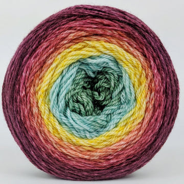 Knitcircus Yarns: Goblet of Fire 100g Panoramic Gradient, Opulence, ready to ship yarn - SALE