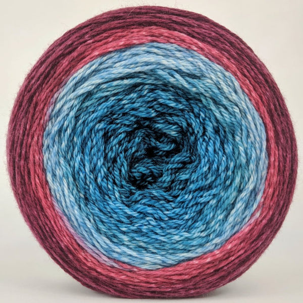 Knitcircus Yarns: Birds of a Feather 150g Panoramic Gradient, Opulence, ready to ship yarn