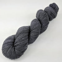 Knitcircus Yarns: Fade to Black 100g Kettle-Dyed Semi-Solid skein, Spectacular, ready to ship yarn