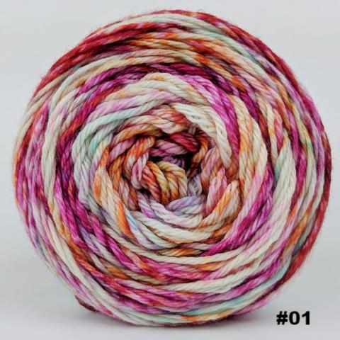 Knitcircus Yarns: Backyard Bouquet 100g Modernist, Ringmaster, choose your cake, ready to ship yarn