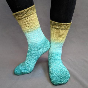 Knitcircus Yarns: Release The Kraken Panoramic Gradient Matching Socks Set (medium), Greatest of Ease, ready to ship yarn