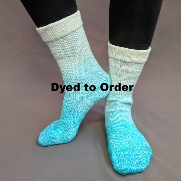 Knitcircus Yarns: Surf's Up Chromatic Gradient Matching Socks Set, dyed to order yarn