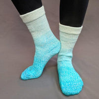 Knitcircus Yarns: Surf's Up Chromatic Gradient Matching Socks Set (large), Greatest of Ease, ready to ship yarn