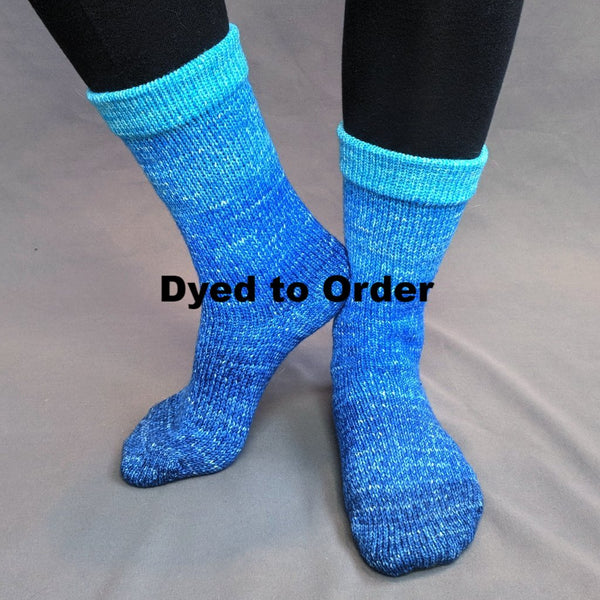 Knitcircus Yarns: Under The Sea Chromatic Gradient Matching Socks Set, dyed to order yarn