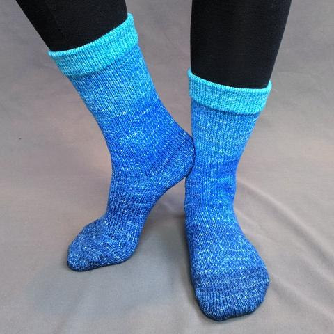 Knitcircus Yarns: Under The Sea Chromatic Gradient Matching Socks Set (medium), Trampoline, ready to ship yarn