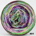 Knitcircus Yarns: Electric Mayhem 100g Modernist, Opulence, choose your cake, ready to ship yarn
