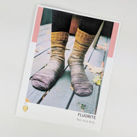 Pattern - Fluorite Socks, by Andrea Mowry, ready to ship