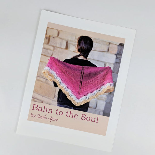 Pattern - Balm to the Soul Shawlette, by Jaala Spiro, ready to ship - SALE
