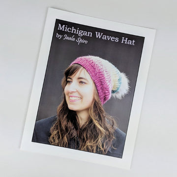 Pattern - Michigan Waves Hat, by Jaala Spiro, ready to ship