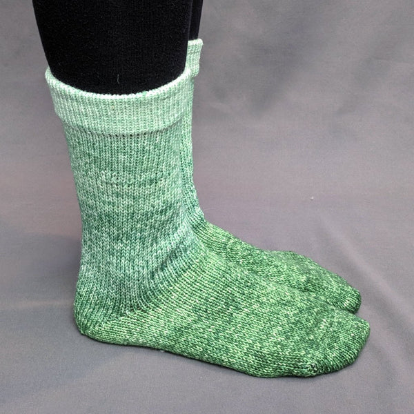 Knitcircus Yarns: Mint Festival Chromatic Gradient Matching Socks Set, dyed to order yarn