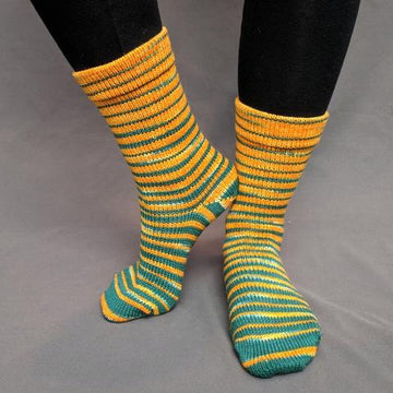 Knitcircus Yarns: Lambeau Leap Gradient Striped Matching Socks Set (medium), Greatest of Ease, ready to ship yarn