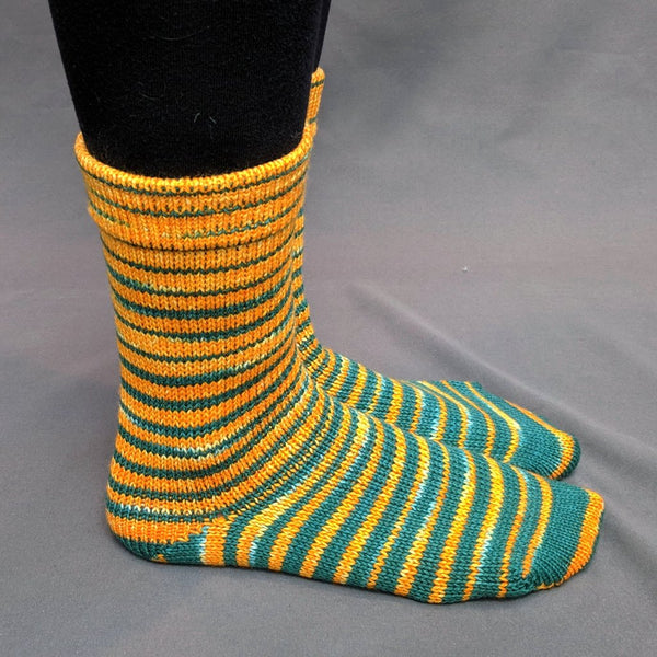 Knitcircus Yarns: Lambeau Leap Gradient Striped Matching Socks Set, dyed to order yarn