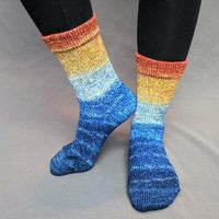 Knitcircus Yarns: Mischief Managed Panoramic Gradient Matching Socks Set (medium), Greatest of Ease, ready to ship yarn - SALE