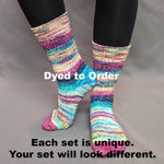 Knitcircus Yarns: Paint the Town Modernist Matching Socks Set, dyed to order yarn