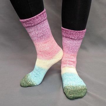 Knitcircus Yarns: Pocket Full Of Posies Panoramic Gradient Matching Socks Set (medium), Greatest of Ease, ready to ship yarn