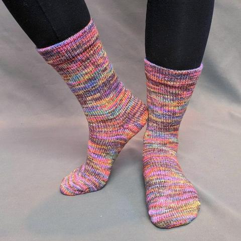 Knitcircus Yarns: Big Top Birthday Abstract Matching Socks Set (medium), Greatest of Ease, choose your cakes, ready to ship yarn