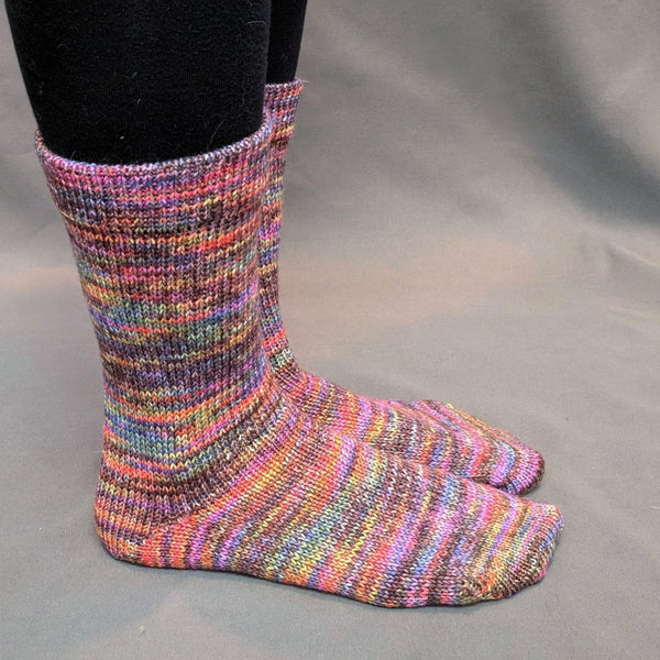 Knitcircus Yarns: Big Top Birthday Abstract Matching Socks Set, dyed to order yarn