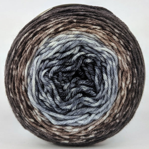 Knitcircus Yarns: Have Fun Storming the Castle 50g Panoramic Gradient, Greatest of Ease, ready to ship yarn