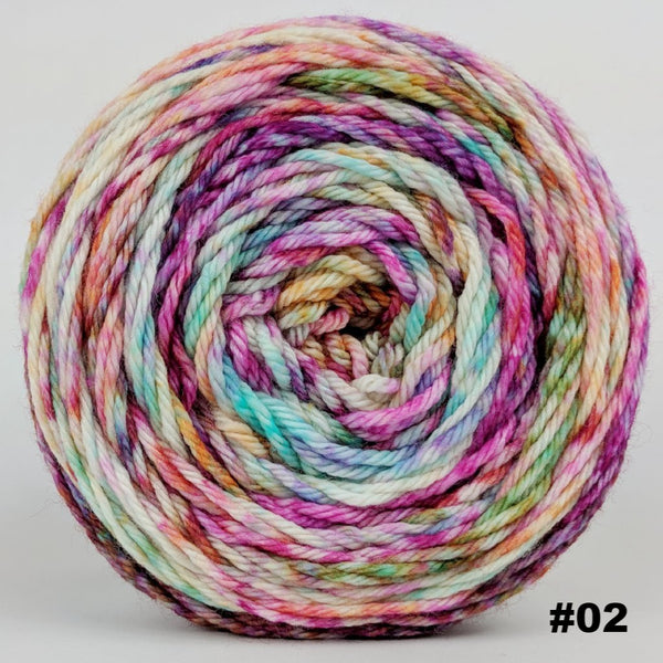 Knitcircus Yarns: Backyard Bouquet 150g Modernist, Ringmaster, choose your cake, ready to ship yarn