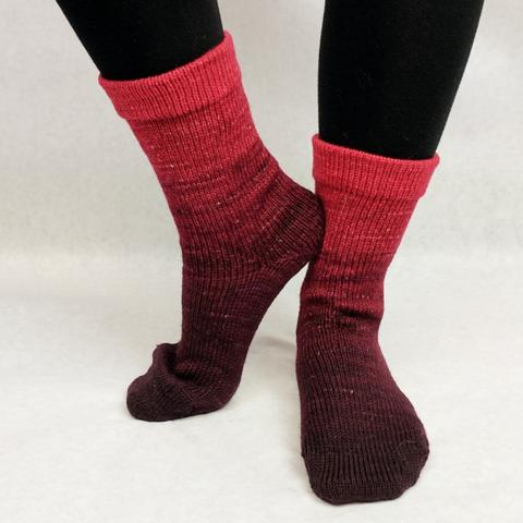 Knitcircus Yarns: Vampire Boyfriend Chromatic Gradient Matching Socks Set (small), Greatest of Ease, ready to ship yarn