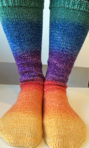 Over the Rainbow Panoramic Gradient Matching Socks Set, dyed to order Best Seller!