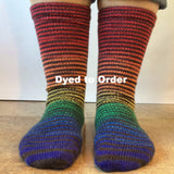 Rainbow Connection Extreme Striped Matching Socks Set, dyed to order