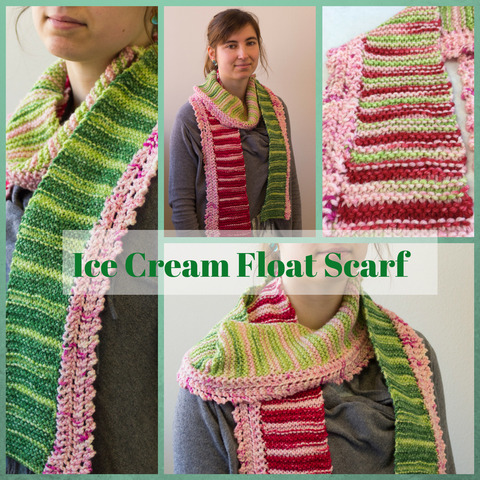 Ice Cream Float Scarf Kit, dyed to order